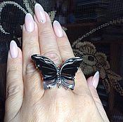 Украшения ручной работы. Ярмарка Мастеров - ручная работа Кольцо агатовая  бабочка в серебре 925. Handmade.