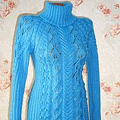 Одежда handmade. Livemaster - original item Women`s sweater with leaves and.. Turtleneck.. Handmade.