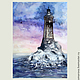 "Пейзаж ручной работы. Картина акварелью ""Старый маяк"". Tatyana Komarova Art. Интернет-магазин Ярмарка Мастеров. Акварель"