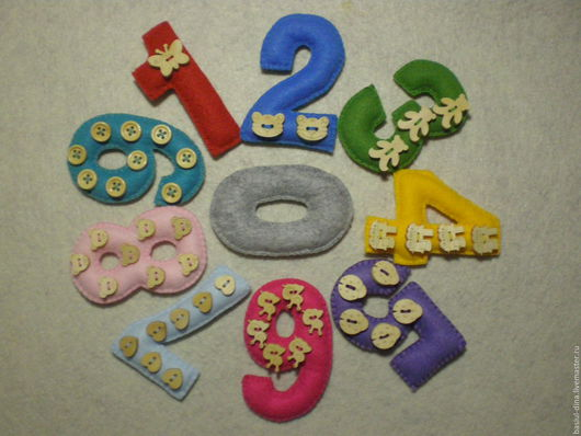 Развивающие игрушки ручной работы. Ярмарка Мастеров - ручная работа. Купить Веселые цифры. Handmade. Комбинированный, развивающая игра