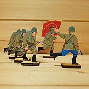 Куклы и игрушки handmade. Livemaster - original item Soviet red army. Handmade.