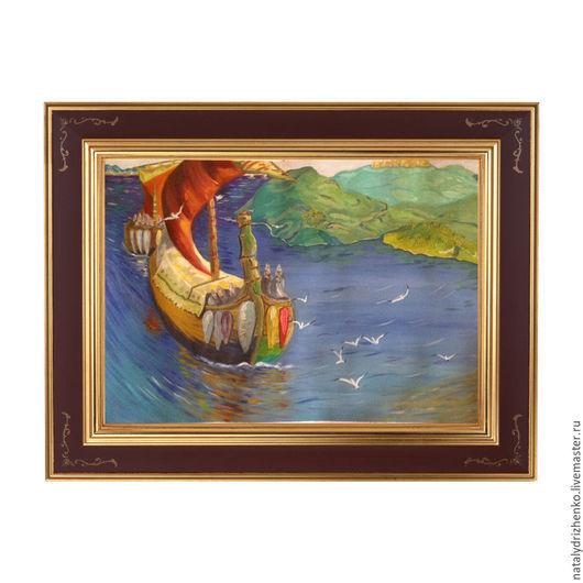 """Пейзаж ручной работы. Ярмарка Мастеров - ручная работа. Купить Картина """"Заморские гости"""". Handmade. Картина, пейзаж, заказать картину"""