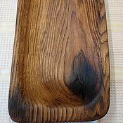 Подносы ручной работы. Ярмарка Мастеров - ручная работа Сервировочная тарелка для подачи из дуба.. Handmade.