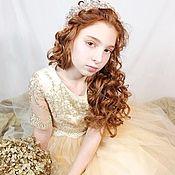 """Платье ручной работы. Ярмарка Мастеров - ручная работа Платье для девочки """"Голди"""". Handmade."""