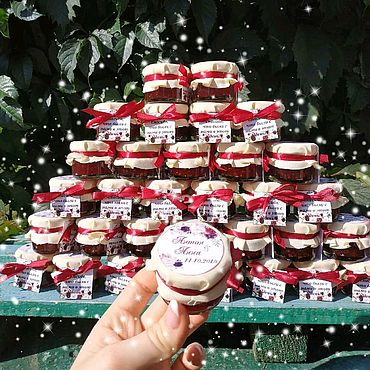 Свадебный салон ручной работы. Ярмарка Мастеров - ручная работа Бонбоньерки айвори и красный. Handmade.