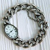 Винтажные часы ручной работы. Ярмарка Мастеров - ручная работа Серебряные винтажные часы Moritz ancre. Handmade.