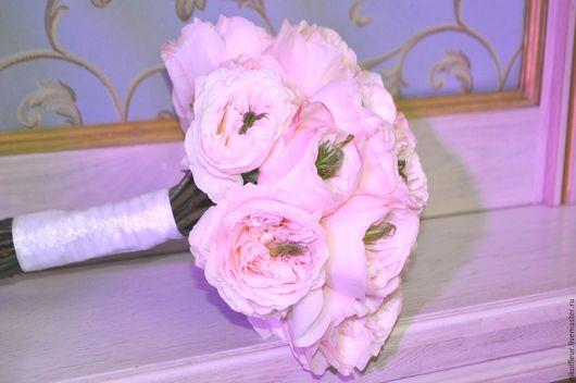 Цветы ручной работы. Ярмарка Мастеров - ручная работа. Купить Свадебный букет. Handmade. Бледно-розовый, свадебный букет