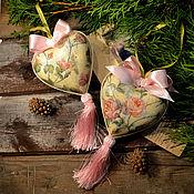 Подарки к праздникам handmade. Livemaster - original item Hearts on the Christmas tree