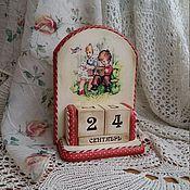 """Для дома и интерьера ручной работы. Ярмарка Мастеров - ручная работа Вечный календарь """"Детки с открытки"""". Handmade."""