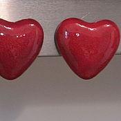 Материалы для творчества ручной работы. Ярмарка Мастеров - ручная работа Магниты  Красные сердечки. Handmade.