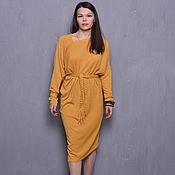 Одежда handmade. Livemaster - original item Dress mustard knitted. Handmade.