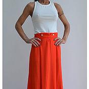 Одежда ручной работы. Ярмарка Мастеров - ручная работа Длинная юбка Coral. Handmade.