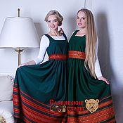 Одежда handmade. Livemaster - original item Sundress Lyubava green. Handmade.