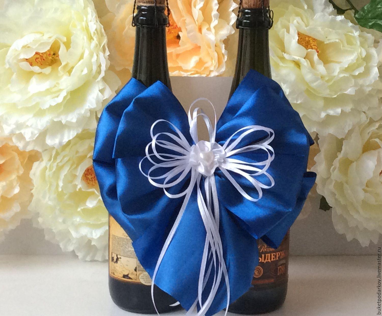 Как украсить шампанское на свадьбу своими руками, мастер 21