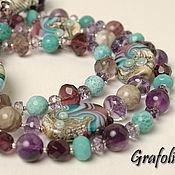 Украшения handmade. Livemaster - original item Beads stones Turquoise gave. Handmade.