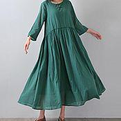 Одежда handmade. Livemaster - original item green dress cotton. Handmade.