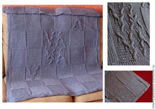 Пледы и одеяла ручной работы. Ярмарка Мастеров - ручная работа. Купить Плед 100% мериносовая шерсть Китайские узоры. Handmade.