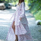 Одежда handmade. Livemaster - original item Long cotton shirt dress - KA0174CT. Handmade.