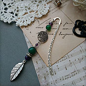 Канцелярские товары handmade. Livemaster - original item Bookmark for a book, notebook, diary Mysterious forest. Handmade.