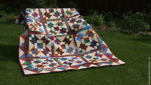 Текстиль, ковры ручной работы. Ярмарка Мастеров - ручная работа. Купить Лоскутное покрывало Сюрприз. Handmade. Лоскутное покрывало