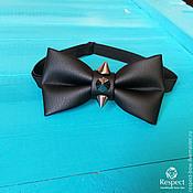 Аксессуары handmade. Livemaster - original item Tie Manowar / black matte bow tie, leatherette, spikes. Handmade.