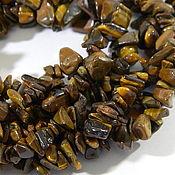 Beads1 handmade. Livemaster - original item Tiger eye chips. Price is for 3 thread. Handmade.