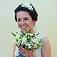 Свадебные украшения ручной работы. Заказать Ободок для волос с цветами - Свадебный. Tanya Flower. Ярмарка Мастеров. Ободок, украшение для волос