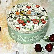 Для дома и интерьера handmade. Livemaster - original item Box-bonbonniere Cherry blossom decoupage. Handmade.