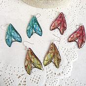 Украшения handmade. Livemaster - original item Transparent Wings Earrings Blue Pink Yellow Rainbow Gamma To Choose From. Handmade.