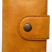 Картхолдер ручной работы. Ярмарка Мастеров - ручная работа Кошелек - бумажник для карт из натуральной кожи. Handmade.