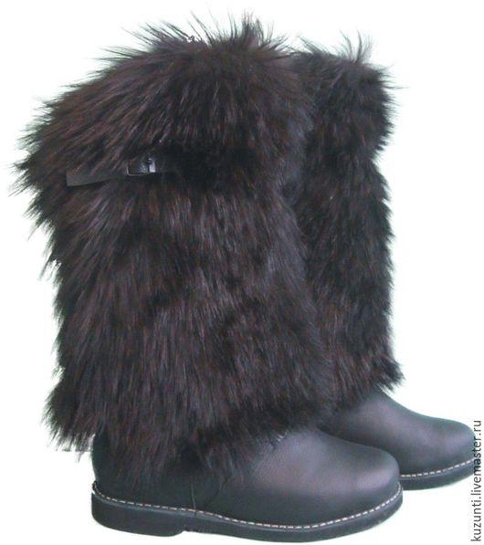 Обувь ручной работы. Ярмарка Мастеров - ручная работа. Купить МВ-08. Handmade. Черный, Унты, зимняя обувь