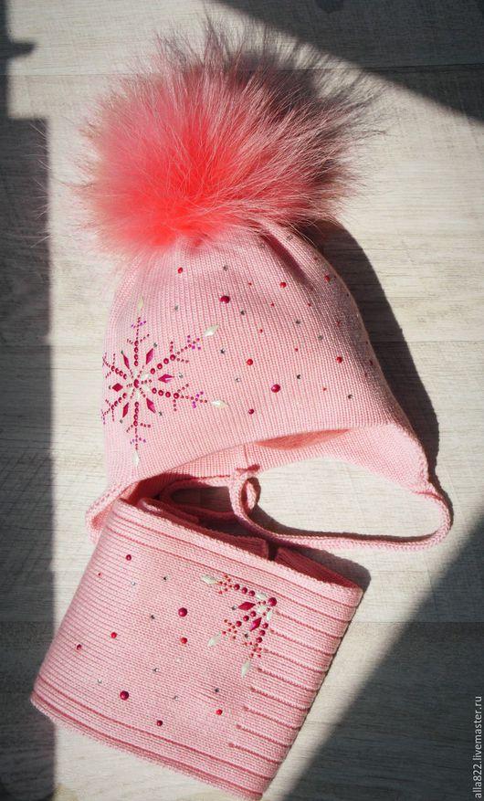 Шапки и шарфы ручной работы. Ярмарка Мастеров - ручная работа. Купить Моя любимая зефирка. Handmade. Розовый, шапка зимняя