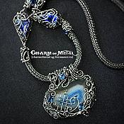 """Украшения ручной работы. Ярмарка Мастеров - ручная работа """"Deep Blue Sea Magic"""" Серебряное колье. Handmade."""