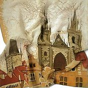 Аксессуары handmade. Livemaster - original item Batik Scarf Prague. Handmade.