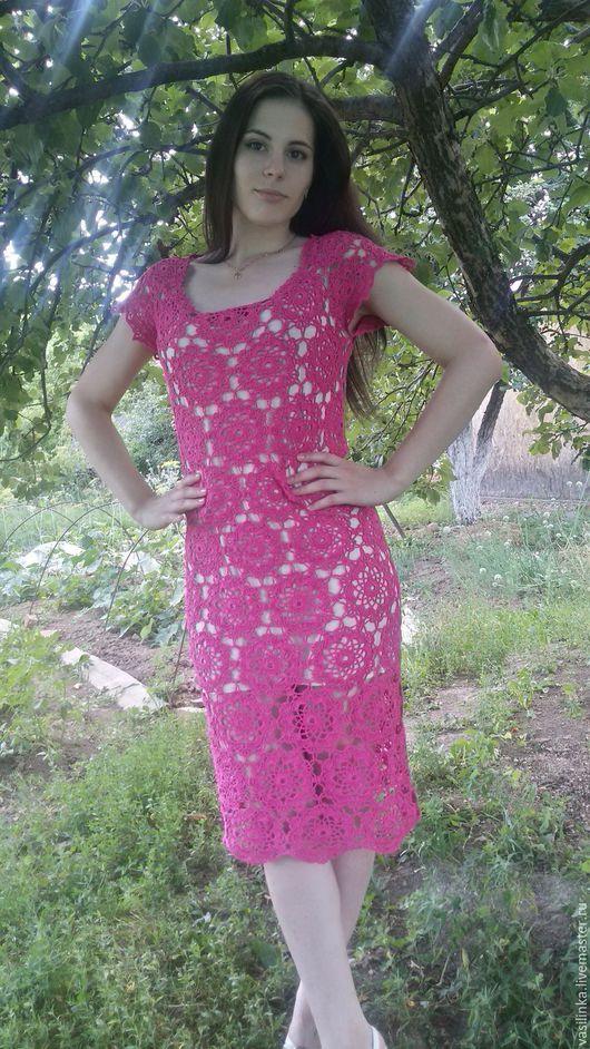 Платья ручной работы. Ярмарка Мастеров - ручная работа. Купить Платье женское. Handmade. Фуксия, вечернее платье