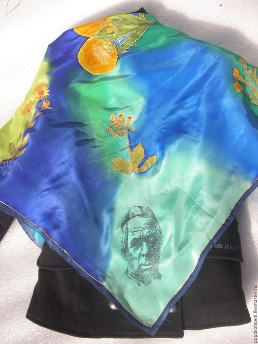 Винтажная одежда и аксессуары. Ярмарка Мастеров - ручная работа. Купить платок. Handmade. Комбинированный, платок батик, яркий аксессуар