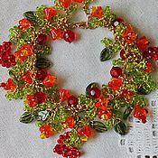 Украшения handmade. Livemaster - original item Bracelet flower with hearts and flowers heart in Love. Handmade.