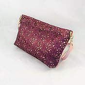 Сумки и аксессуары ручной работы. Ярмарка Мастеров - ручная работа Сумка Ажурная сирень!кожаная,розовая,кружево,фиолетовая,летняя,подарок. Handmade.