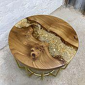 Для дома и интерьера handmade. Livemaster - original item Round coffee table made of elm slabs. Handmade.