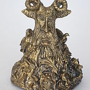 Сувениры и подарки handmade. Livemaster - original item Bronze bell Forest pan. Handmade.