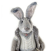 Куклы и игрушки handmade. Livemaster - original item Bunny, Rabbit, interior knitted toy. Handmade.