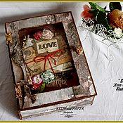 """Канцелярские товары ручной работы. Ярмарка Мастеров - ручная работа Мини-альбом """"Love"""" в Shadow box. Handmade."""