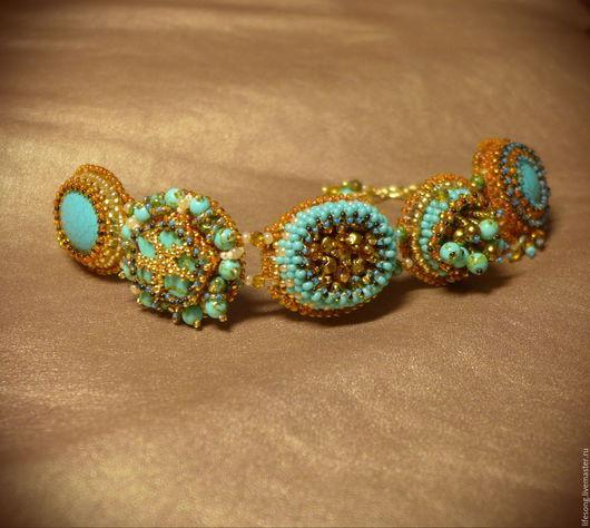 """Браслеты ручной работы. Ярмарка Мастеров - ручная работа. Купить браслет """"Пять ночей Шахерезады"""" вышивка бисером и камнями. Handmade."""