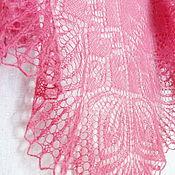 Аксессуары handmade. Livemaster - original item Downy shawl knitted Angelina, openwork shawl gossamer. Handmade.