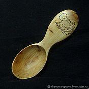 Посуда handmade. Livemaster - original item Hiking spoon from a juniper and drawing