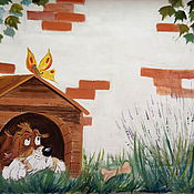 Дизайн и реклама handmade. Livemaster - original item Wall mural on the street - keep it Rustic(farm). Handmade.