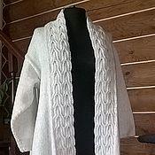 Одежда ручной работы. Ярмарка Мастеров - ручная работа кардиган с обратными косами. Handmade.