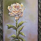 Pictures handmade. Livemaster - original item Pastel painting in the frame TEA ROSE of PROVENCE. Handmade.