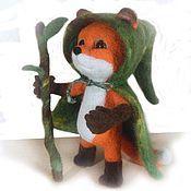 Куклы и игрушки ручной работы. Ярмарка Мастеров - ручная работа Лис-друид. Игрушка из шерсти. Handmade.