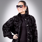 Одежда handmade. Livemaster - original item Jacket from Paws Karakul Trim Suede Genuine. Handmade.